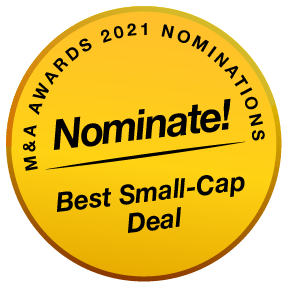 MenA Awards 2021 Buttons Nominatie Best Deal Small-Cap